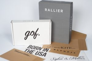 Custom branded envelopes and boxes